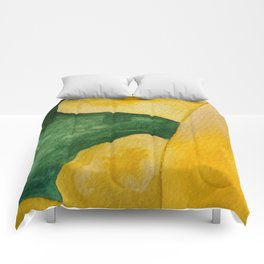 Yellow Landscape Comforters