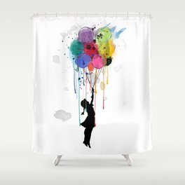 wild drips Shower Curtain