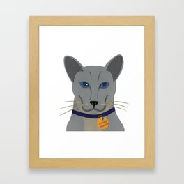 Cheeky Siamese Cat Framed Art Print