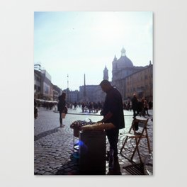 Street food - Rome, Italy Canvas Print