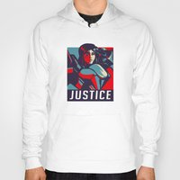 justice Hoodies featuring Justice by Astrobunny