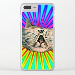 GLASSES CAT Clear iPhone Case