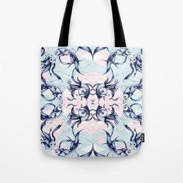 Goldfish Motif # Blue & Pink Tote Bag