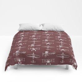 Biplanes // Tosca Red Comforters