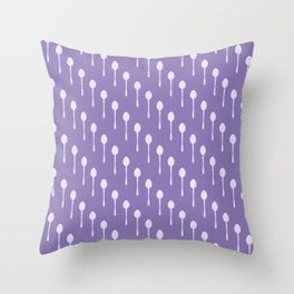 Spoons Pattern (Lavender) Throw Pillow