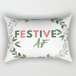 Festive AF Rectangular Pillow