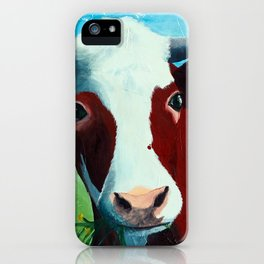 Animal - Daisy the Cow - by LiliFlore iPhone Case