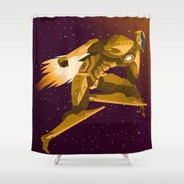 spacesuit hero flying Shower Curtain