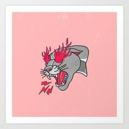 Panther Flame Art Print