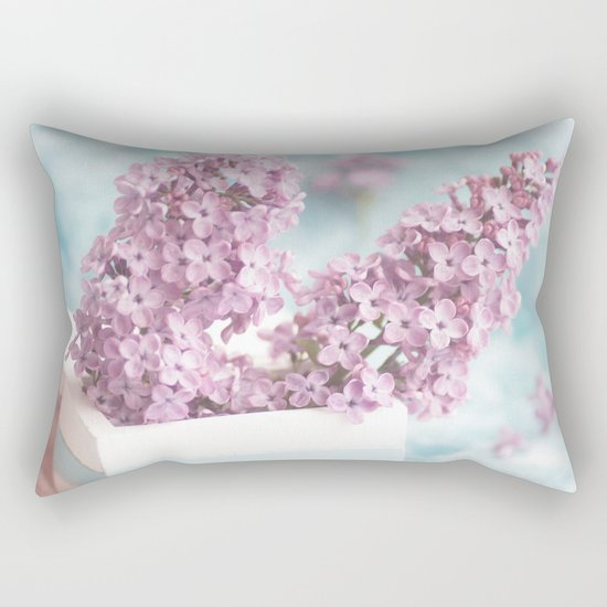 Lilac power in pastel Rectangular Pillow