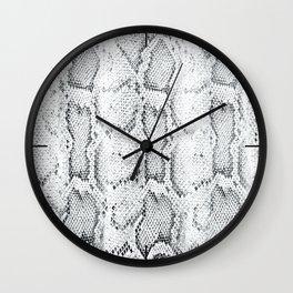 Black White Snake Skin Print Wall Clock