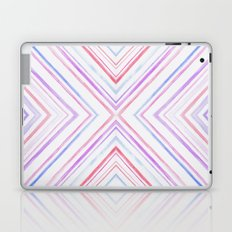 Pink Purple Watercolour Chevron Print Laptop & iPad Skin