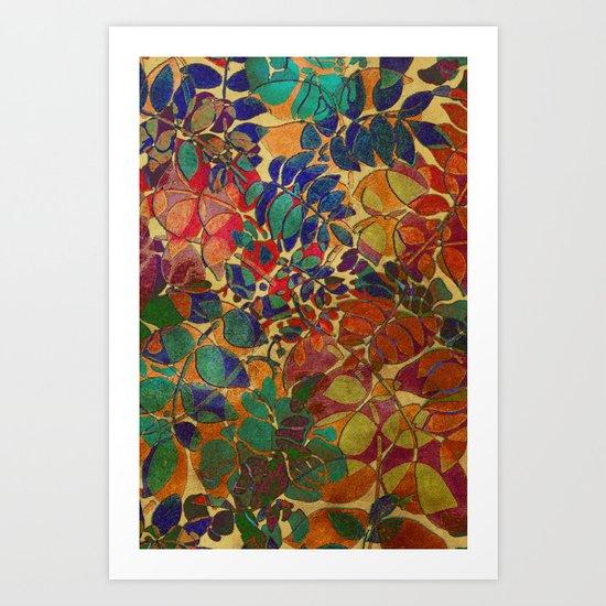 Love of Leaves Art Print