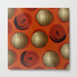 ORANGE RED GOLD Metal Print