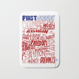 The First Amendment Bath Mat