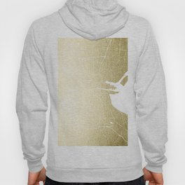 Dublin Street Map Gold and White Hoody
