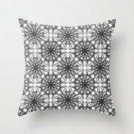 Monoprint X Throw Pillow