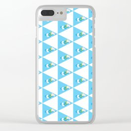 Swimming Polar Bear Triangle Clear iPhone Case