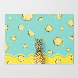 Summer Love - Pineapple Canvas Print