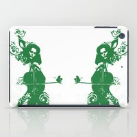 cello iPad Cases featuring Cello and flowers by Design4u Studio