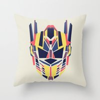 transformer Throw Pillows featuring Prime by Fimbis