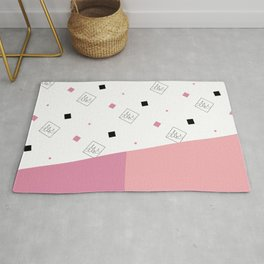 Spring Fashion Pattern #cute #blush #kirovair #pattern #pink #coral #home #decor Rug