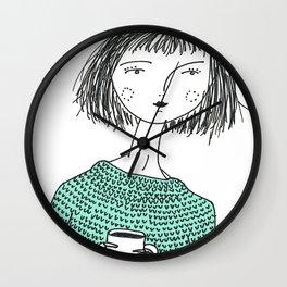 Coffee and Sweaters Wall Clock
