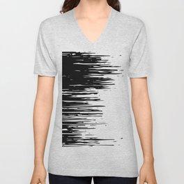 Carefree Black and White Unisex V-Neck