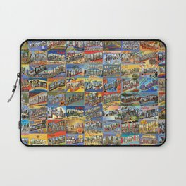 Greetings From Postcards Laptop Sleeve