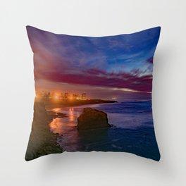 The Elegance of Sunset Cliffs Throw Pillow