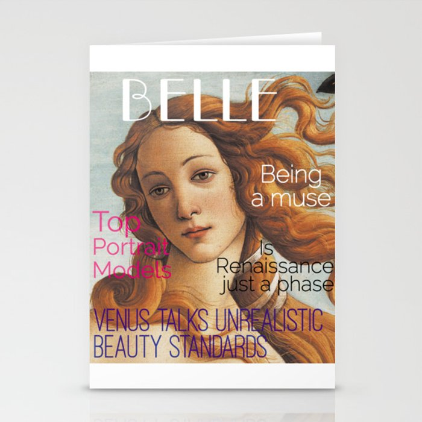 Renaissance Magazine Stationery Cards