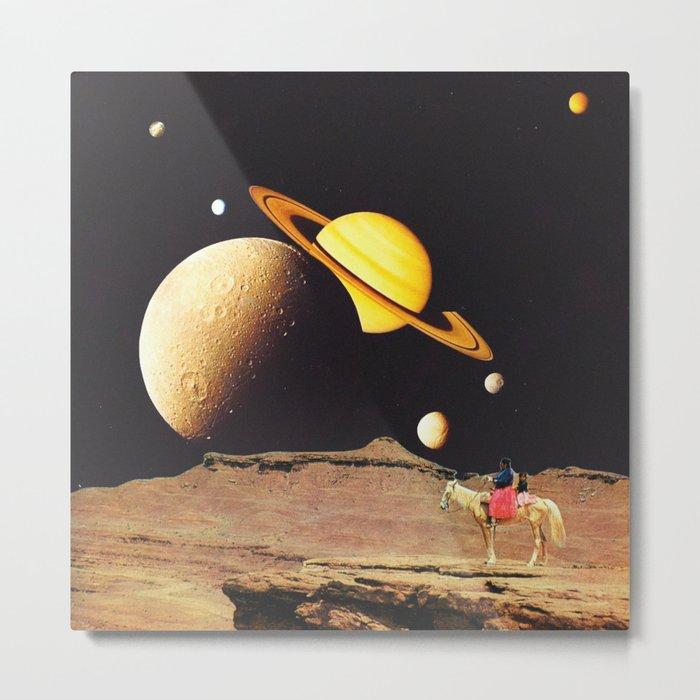 Western Space Metal Print