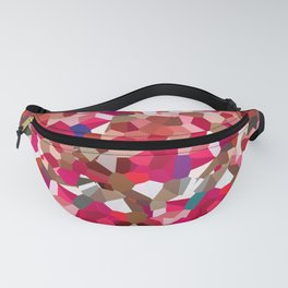 Ruby Red Heart Moon Love Fanny Pack