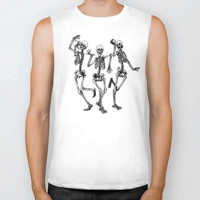Three Dancing Skulls Biker Tank