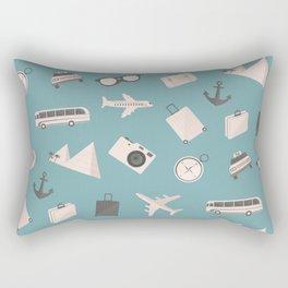 Travel pattern Rectangular Pillow