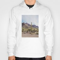 arizona Hoodies featuring Arizona Cactus by Kevin Russ