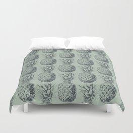 Pineapple, tropical fruit pattern design Duvet Cover