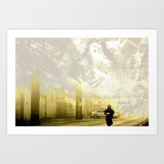 Retrollage 3.. Art Print