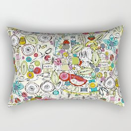 bits and bobs and bugs Rectangular Pillow