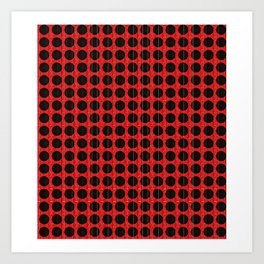"""Black and Red Poka Dot """"connect the dots"""" Art Print"""