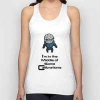 garrus Tank Tops featuring Garrus: In the middle of some calibrations by Skart87