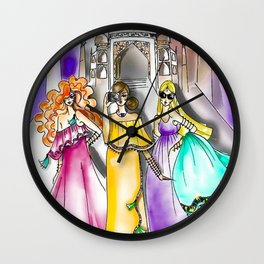 Traveling paper dolls - Taj Mahal Wall Clock