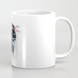 Surreal black bunny with poisonous berries and horns Coffee Mug