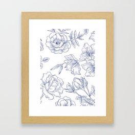 leggins flower Framed Art Print