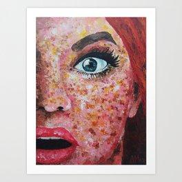 Surprise - Freckles Art Print