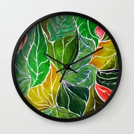 Dancing leaves Wall Clock