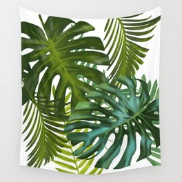 Palm and Monstra Wall Tapestry