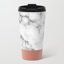 Marble & copper Metal Travel Mug