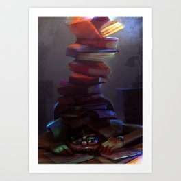 Book worm  Art Print