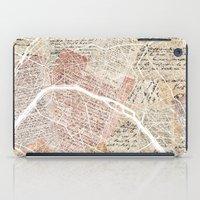 paris map iPad Cases featuring Paris map by Mapsland